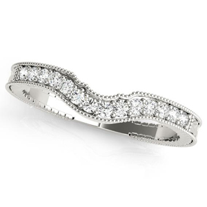 SABRINA Diamond Wedding Ring in 14K White Gold