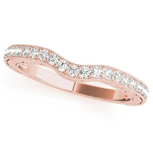 LILAC Diamond Wedding Ring in 14K Rose Gold