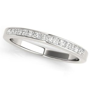 ASTER Classic Diamond Wedding Ring in 14K White Gold