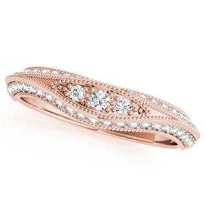 ARIA Vintage Diamond Wedding Ring in 14K Rose Gold