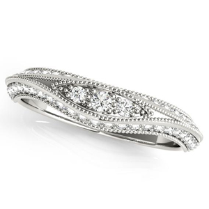 ARIA Vintage Diamond Wedding Ring in 14K White Gold