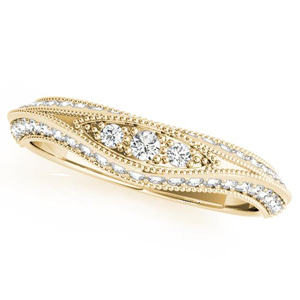 ARIA Vintage Diamond Wedding Ring in 14K Yellow Gold