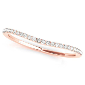 JULIA Classic Diamond Wedding Ring in 14K Rose Gold