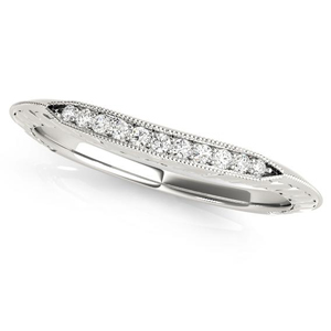CHLOE Vintage Diamond Wedding Ring in 14K White Gold