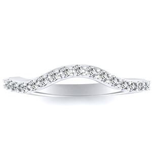 Lyre Modern Wedding Ring in Platinum