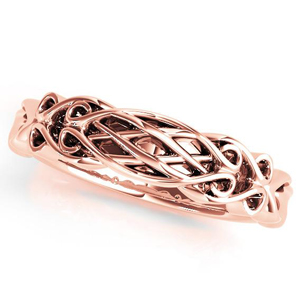 BIANCA Vintage Wedding Ring in 14K Rose Gold