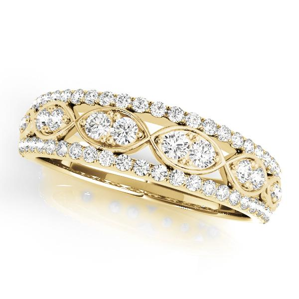 bands yellow gold engagement stone band ring side solitaire diamond