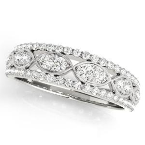 AMBER Diamond Wedding Ring in Platinum