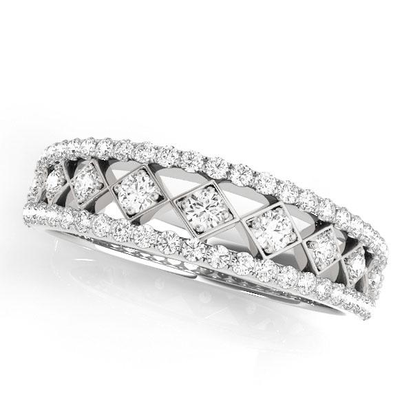 CLAIRE Vintage Diamond Wedding Ring in 14K White Gold