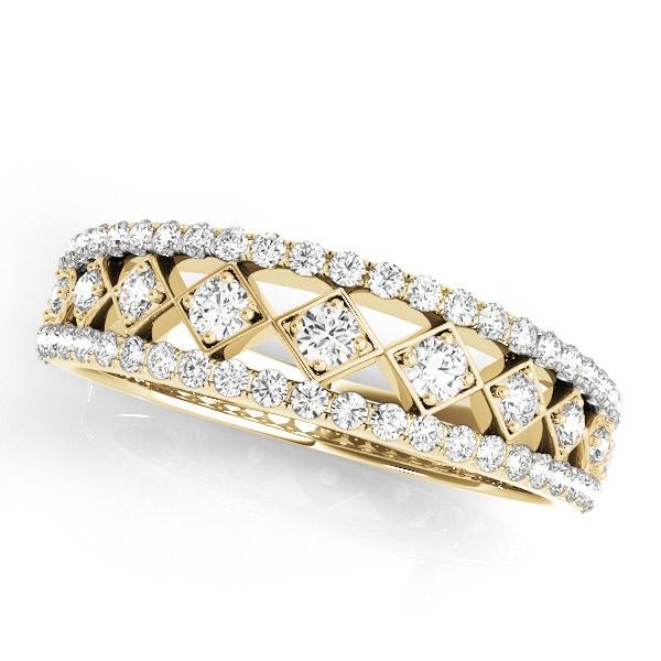 CLAIRE Vintage Diamond Wedding Ring in 14K Yellow Gold