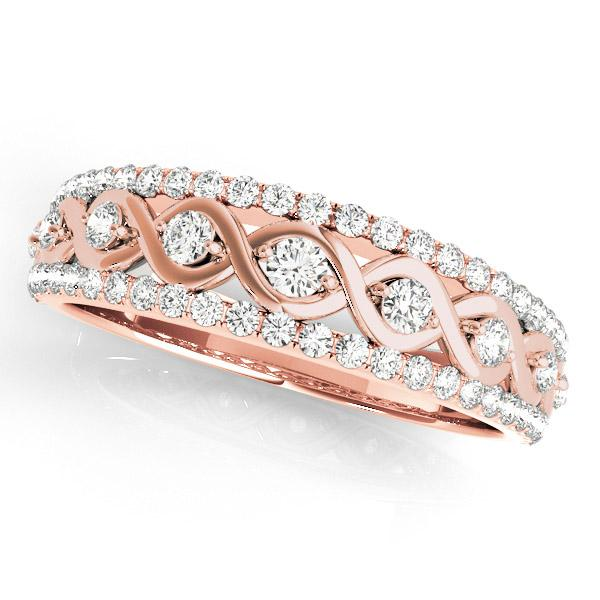 HAILEY Diamond Wedding Ring in 14K Rose Gold