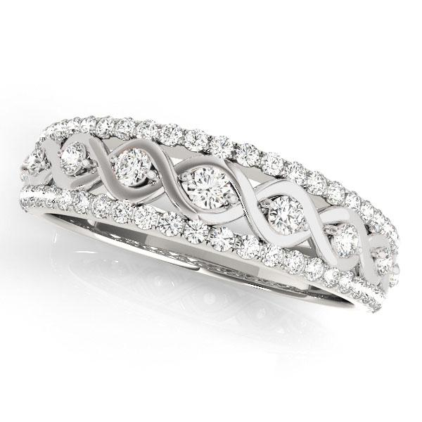 HAILEY Diamond Wedding Ring in 14K White Gold