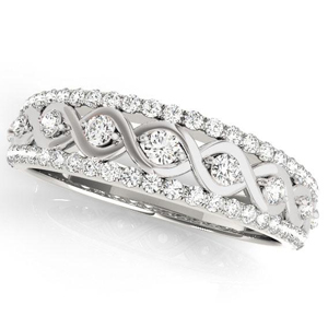 HAILEY Diamond Wedding Ring in 14K White Gold