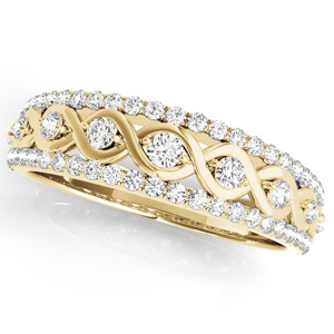 HAILEY Diamond Wedding Ring in 14K Yellow Gold