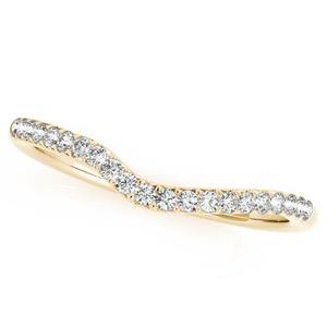 EMILY Diamond Wedding Ring in 14K Yellow Gold