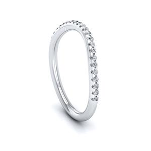 Maya Modern Diamond Wedding Ring In 14K White Gold