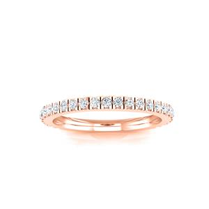 CATHERINE Diamond Wedding Ring In 14K Rose Gold