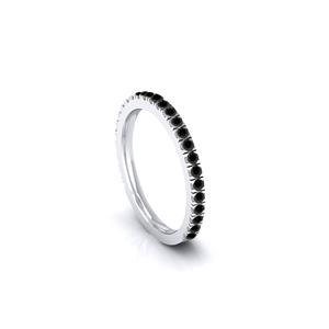 CATHERINE Black Diamond Wedding Ring In 14K White Gold