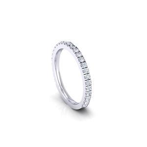 CATHERINE Diamond Wedding Ring In 14K White Gold