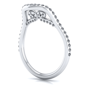 Raven Diamond Wedding Ring In 14K White Gold