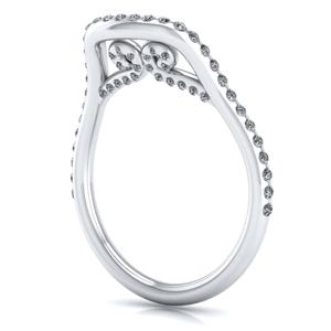 Raven Diamond Wedding Ring In 18K White Gold