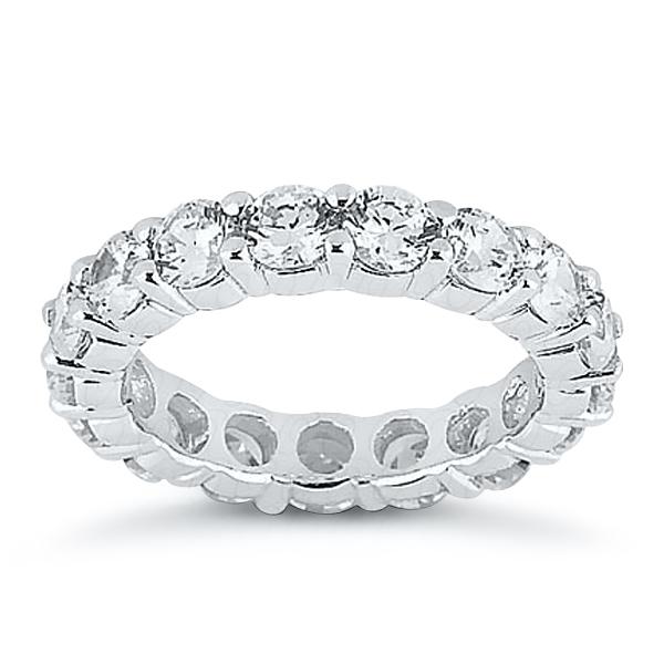 Eternity Diamond Wedding Ring in 14K White Gold 5.00 ctw