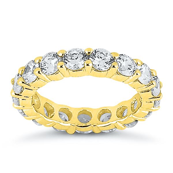 Eternity Diamond Wedding Ring in 14K Yellow Gold 5.00 ctw