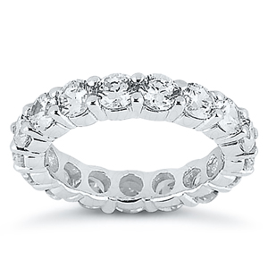 Eternity Diamond Wedding Ring in 14K White Gold 5.00 ctw