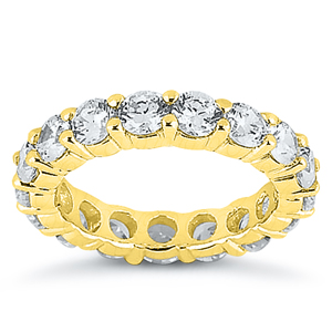 Eternity Diamond Wedding Ring in 14K Yellow Gold 5.00 ctw