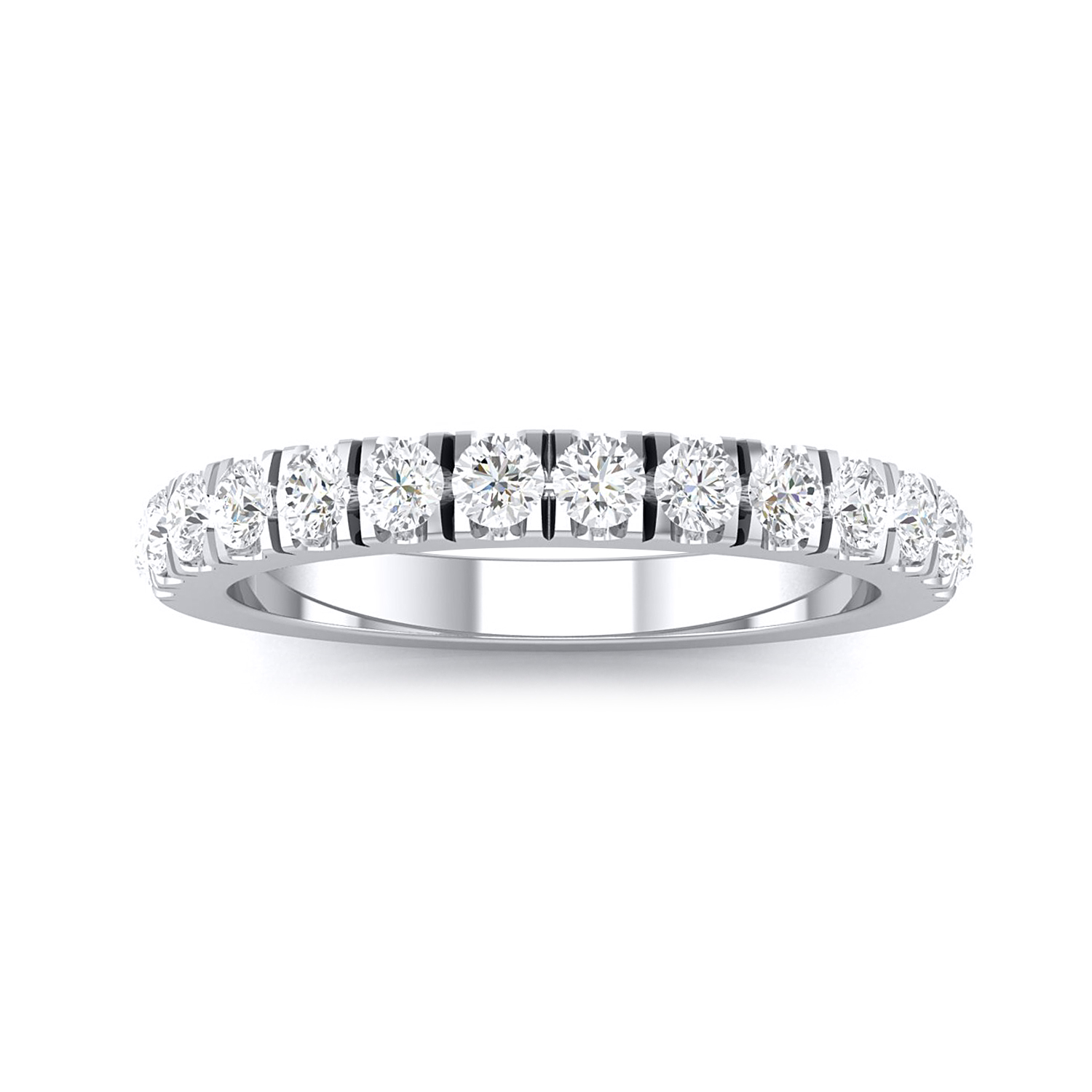CAROLINE Classic Diamond Wedding Ring In 14K White Gold with 0.50 cttw