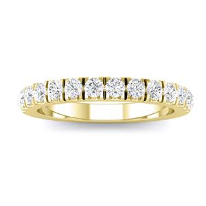 CAROLINE Classic Diamond Wedding Ring In 14K Yellow Gold with 0.50 cttw