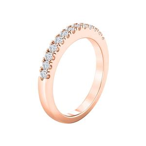 Classic Diamond Wedding Ring In 14K Rose Gold