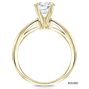 Isabelle Solitaire Diamond Engagement Ring in 14K Yellow Gold With 0.50ct. Round Diamond
