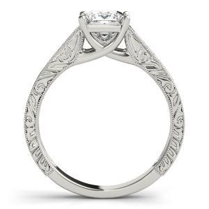 Ashton Vintage Solitaire Diamond Engagement Ring with Wedding Ring in 14K White Gold