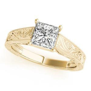 Ashton Vintage Solitaire Diamond Engagement Ring in 14K Yellow Gold