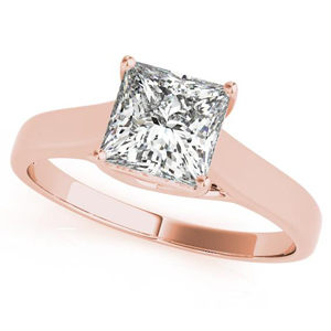 Elixir Solitaire Diamond Engagement Ring in 14K Rose Gold