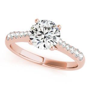 Cher Diamond Engagement Ring in 14K Rose Gold