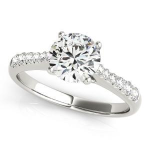 Cher Diamond Engagement Ring in 14K White Gold