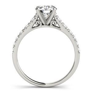 Felicity Diamond Engagement Ring in 14K White Gold