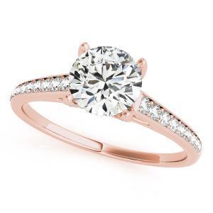 Olivia Diamond Engagement Ring in 14K Rose Gold