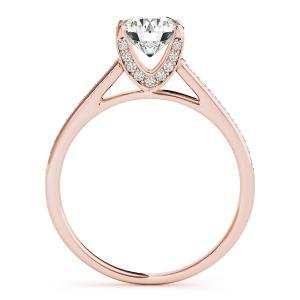 Olivia Diamond Engagement Ring with Wedding Ring in 14K Rose Gold