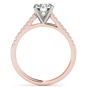 Irene Diamond Engagement Ring in 14K Rose Gold