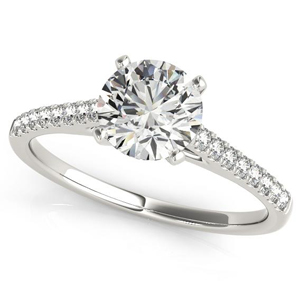 Irene Diamond Engagement Ring in 14K White Gold