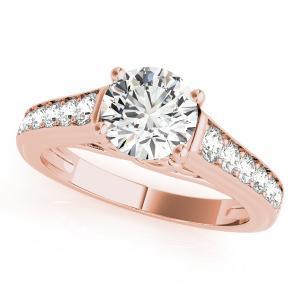 Diva Diamond Engagement Ring in 14K Rose Gold