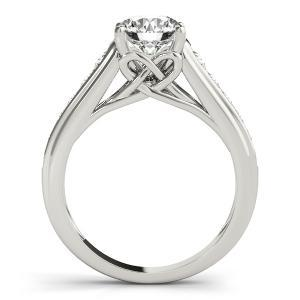 Diva Diamond Engagement Ring with Wedding Ring in 14K White Gold