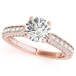 Belle Diamond Engagement Ring in 14K Rose Gold