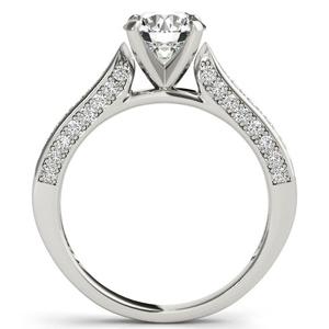 Belle Diamond Engagement Ring in 14K White Gold
