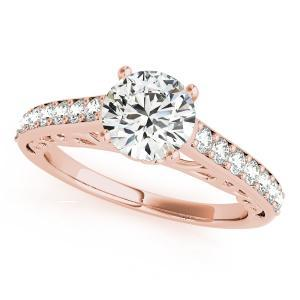 Lisa Diamond Engagement Ring in 14K Rose Gold