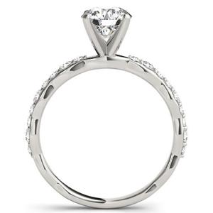 Juniper Modern Diamond Engagement Ring in 14K White Gold