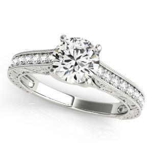 Vienna Vintage Diamond Engagement Ring in 14K White Gold
